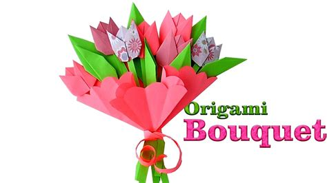 How To Make Paper Bouquet - origami bouquet how to make paper tulips origami flowers
