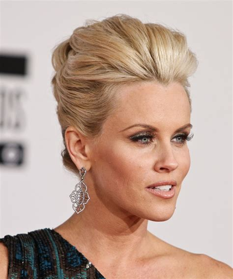 how to get jenny mccarthys new haircut jenny mccarthy updo long straight formal updo hairstyle
