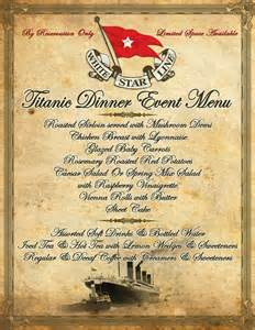 titanic menus pinterest the world s catalog of ideas