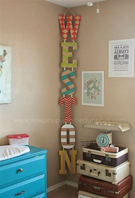 diy boy room decor home decorating idea diy painted name letters hung