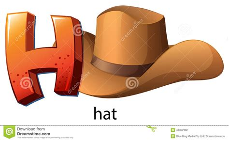 a letter h for hat stock vector image of capital ascot