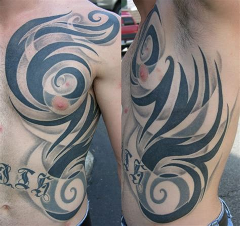 rib cage tribal tattoos 30 rib ideas for boys and