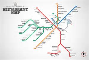 Map Of Boston T by Cool Map Visualizes The Best Restaurants For Every T Stop
