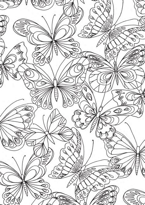 nature scapes coloring pages adult coloring perfect patterns papillons jpg