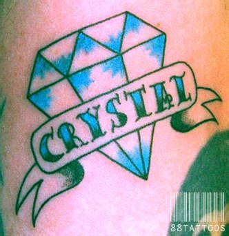 diamond tattoo with banner diamond w banner tattoo