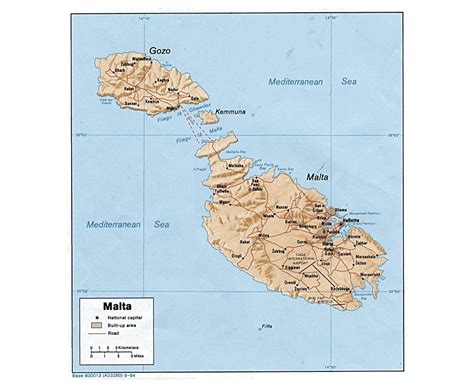 physical map of malta maps of malta detailed map of malta in tourist