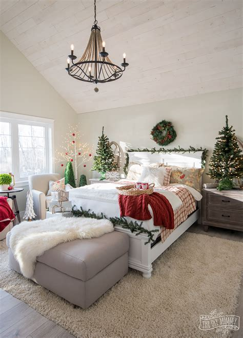 traditional christmas bedroom decor ideas moms lake house