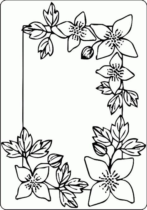 cornici da disegnare cornice fiori e foglie disegno da colorare gratis