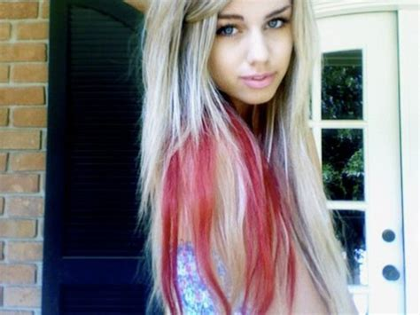 blonde with red underneath and streaks hair pinterest blonde with red underneath light blonde hair color