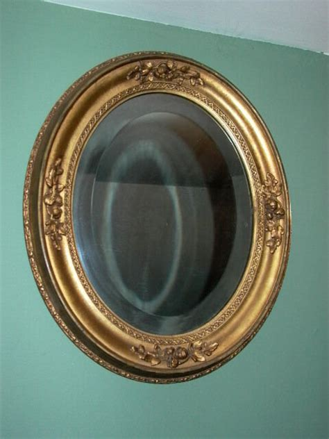 antique oval mirror  gold finish floral detail ebay