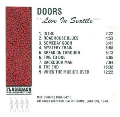 someday soon deliverance company 1 the doors live in seattle seattle center seattle usa