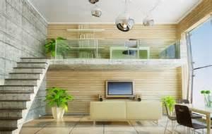 interior design loft study room pastoral style interior