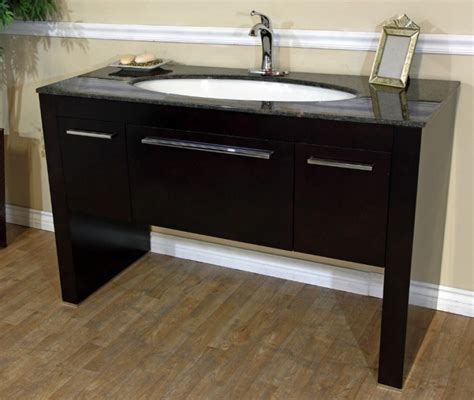 55 Inch Sink Bathroom Vanity 55 inch single sink bath vanity in walnut uvbh804380tb55
