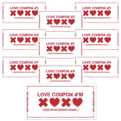 free printable vintage love coupons 7 best images of love you printable labels free