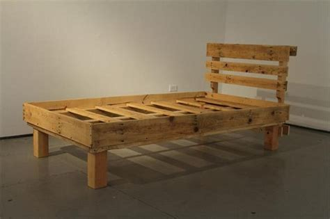 recycled wood bed frames wood pallet furniture ideas