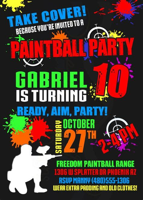 printable birthday invitations paintball 17 best images about paintball on pinterest image search