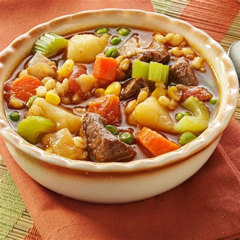 Healthy Recipe For Vegetable Beef Soup To Put Family Together Better Homes And Gardens Vegetable Beef Soup