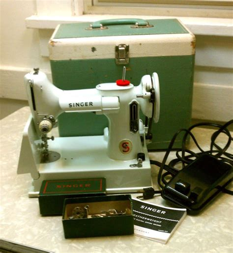 antique singer featherweight 1949 portable sewing machine vintage singer featherweight portable sewing machine rare