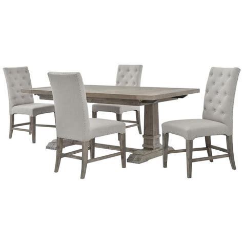 hudsonbeltran gray  piece formal dining set formal
