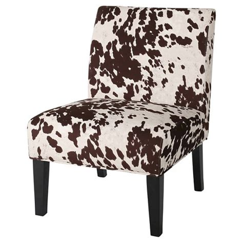 saloon cowhide print dining chair milk  christopher knight home target