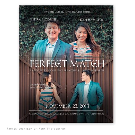 Movie Poster Save The Date Template Save The Date Poster Template