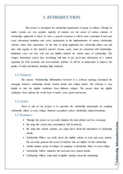 School Information System Thesis by Thesis For Student Information System