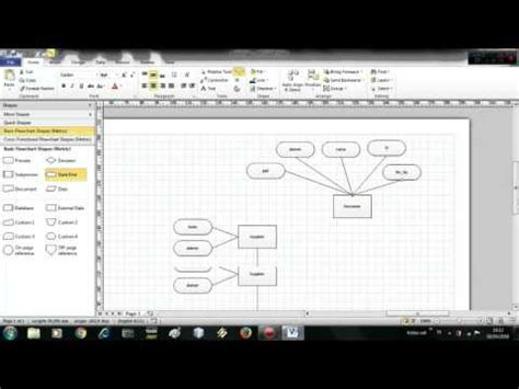 tutorial membuat erd di visio 2007 tutorial membuat entity relationship diagram erd
