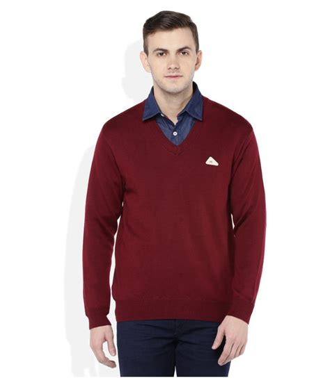 Sweater You Me Maroon monte carlo maroon v neck sweater buy monte carlo maroon