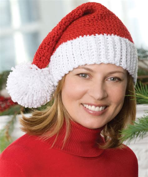 pattern for father christmas hat how to crochet santa hat video one youtube