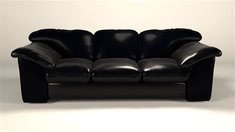 free leather couch free leather sofa 3d model