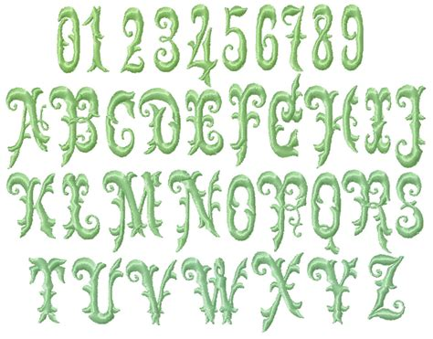 Garden Font by Vintage Monogram Deal Machine Embroidery Designs Ebay