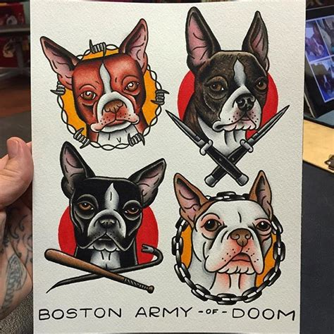 boston terrier tattoos designs 672 best flash sailor jerry style images on