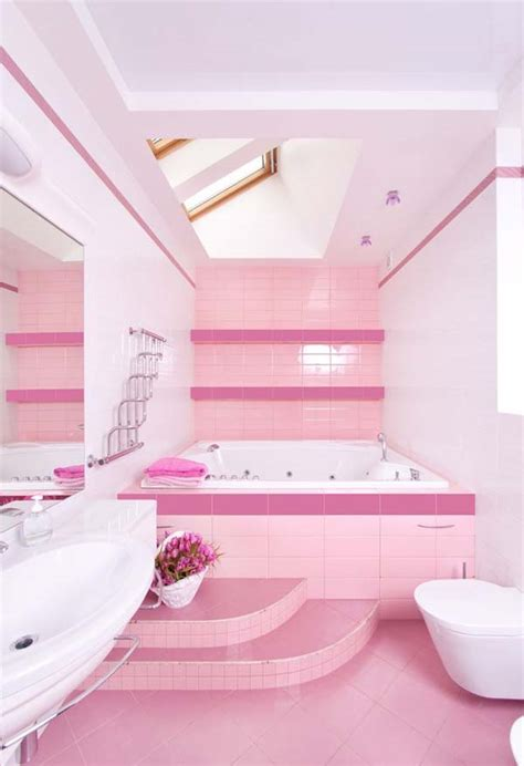 Pink In Bathtub by Cuteness Of Pink Bathroom Decorating Ideas Speedchicblog