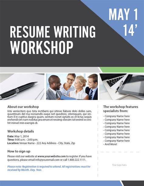 benefits of resume writing workshop
