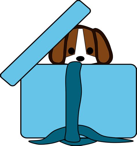 puppy in a box clipart beagle in a box