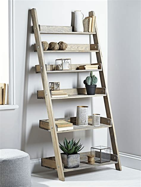 17 best ideas about wooden ladder shelf on