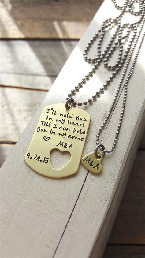 personalized tags for boyfriend custom tag and necklace brass tag sted