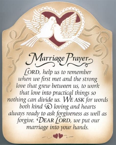 Wedding Dinner Blessing Catholic by Marriage Prayer Wall Plaque Multi Color Catholic