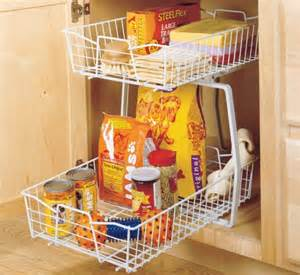 Closetmaid Kitchen Organizers Closetmaid 2 Tier 14 Inch Kitchen Cabinet Organizer White