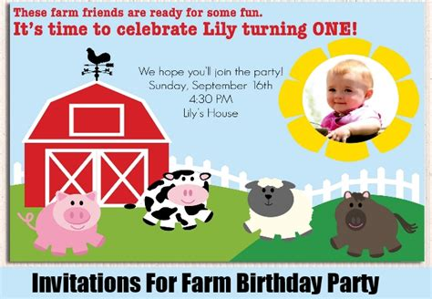 Unique Farm Birthday Party Ideas Ideas For A Farm Themed Birthday Party Bash Corner Free Farm Birthday Invitation Templates