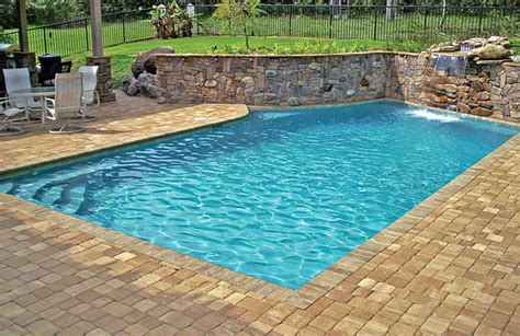 Images Of Backyards With Pools Geometric Pools Blue Haven Custom Swimming Pool And Spa