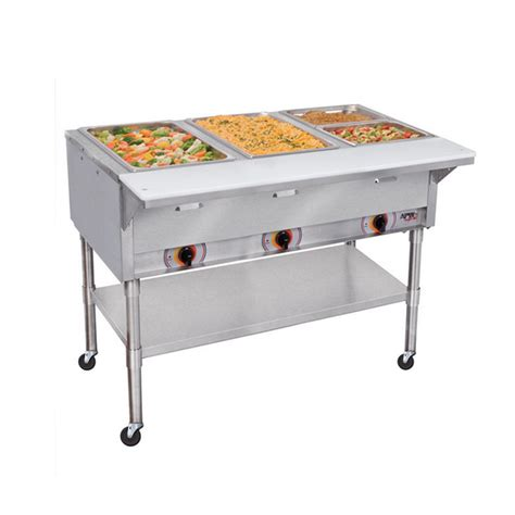 apw wyott psst 4s 4 sealed well mobile food steam table