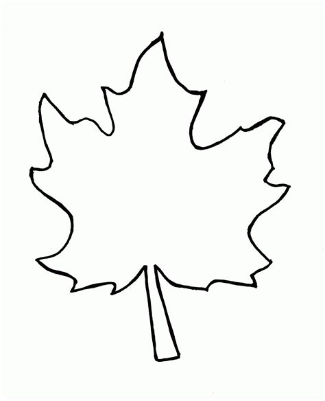 leaf outline coloring page sycamore leaf template coloring home