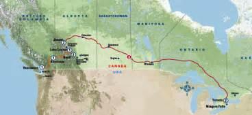 trans canada railway map trans canada rail adventure ex toronto 2015 rail plus