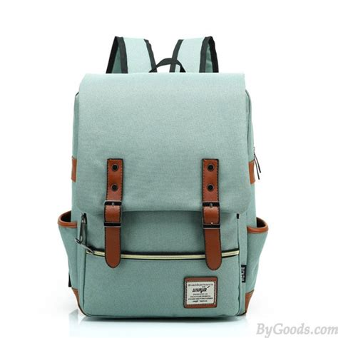 style backpacks vintage travel backpack leisure canvas with leather