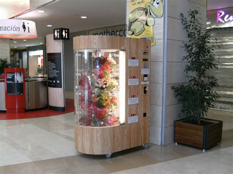 distributore automatico fiori flower vending machine flowers vending