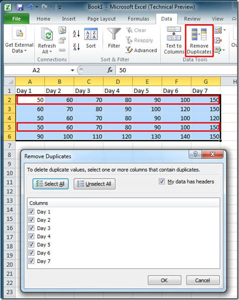 excel tutorial remove duplicates how to remove duplicate values in two columns in excel