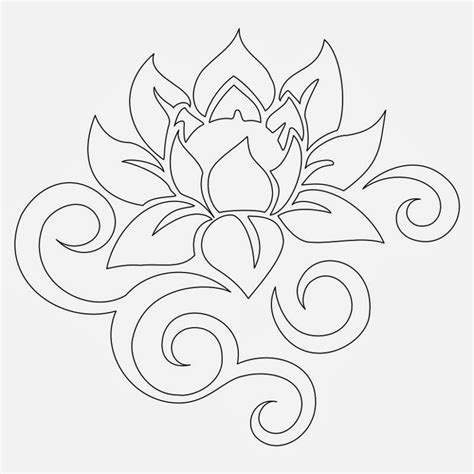 lotus flower tribal tattoo tattoos book 2510 free printable stencils lotus