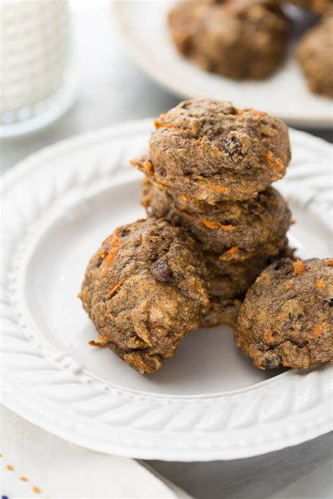 carrot cake power cookies gluten free vegan