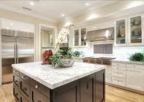 White Island Kitchen by Family Home With Coastal Transitional Interiors Home
